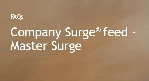 Company Surge® feed- Master Surge FAQs
