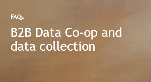 The B2B Data Cooperative (Data Co-op) and data collection methodology FAQs