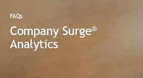 Company Surge® Analytics FAQs