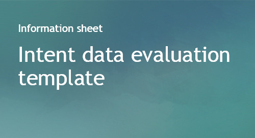 Intent data evaluation template