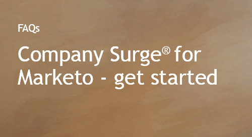 Company Surge® for Marketo customer onboarding FAQs