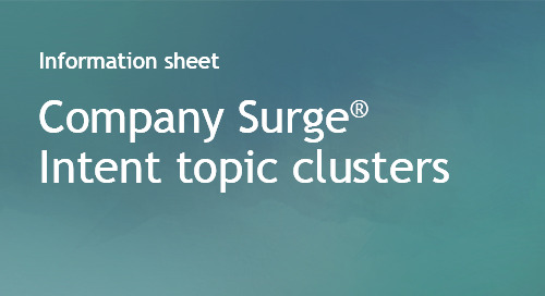 Company Surge® Intent topic clusters