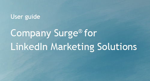 Company Surge® for LinkedIn -- Integration Guide