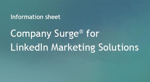 Company Surge® for LinkedIn