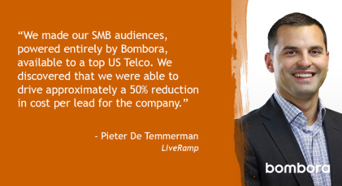 Bleeding edge technology: combining LiveRamp and Bombora to reach any B2B audience with Pieter De Temmerman [Inside Intent podcast]