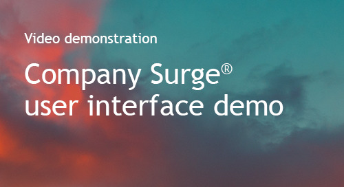Company Surge® user interface demo