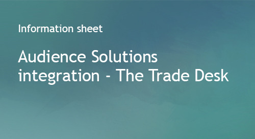 Audience Solutions integration for The Trade Desk