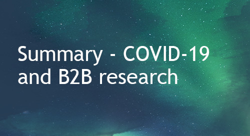Summary - COVID-19 impact on business research trends - Apr 2020