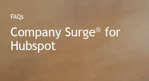 Company Surge® for HubSpot - FAQs