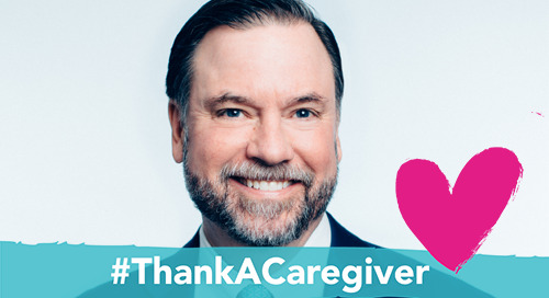 Support family caregivers by adding a #ThankACaregiver frame to your profile picture
