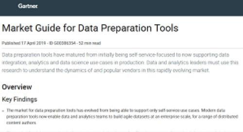 Gartner: Data Preparation Market Guide