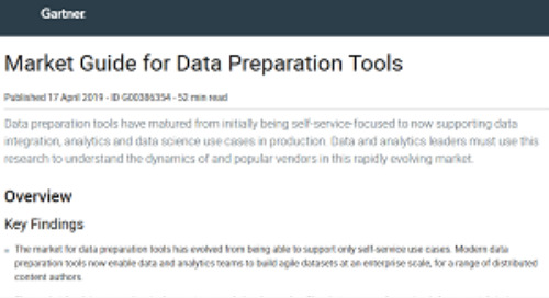 Gartner: Data Preparation Market Guide
