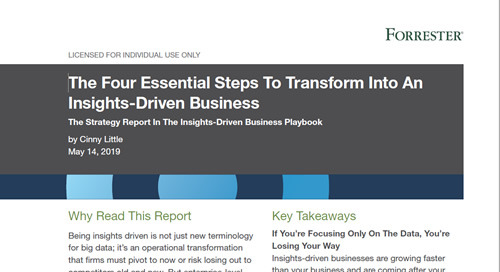 Forrester: How to transform to an insights-driven business