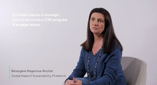"Sustainability Practitioners Across Industries Answer: ""Why EcoVadis?"""