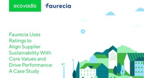 Faurecia Uses EcoVadis Rating to Align Supplier Sustainability and Drive Performance: A Case Study