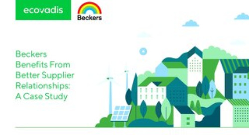 Beckers Benefits From Better Supplier Relationships: A Case Study