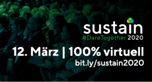 Sustain 2020 wird 100% virtuell!