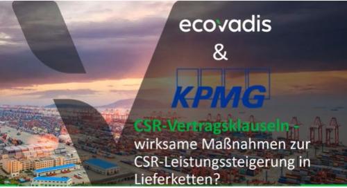 Expertenwebinar mit KPMG: CSR-Vertragsklauseln – wirksame Maßnahmen zur CSR-Leistungssteigerung?