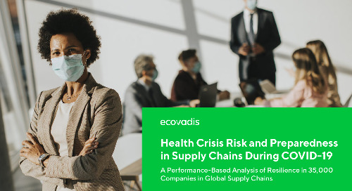 Health Crisis Risk and Preparedness in Supply Chains During COVID-19