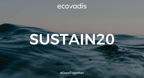 EcoVadis 2020 Outlook and Awards, Sustain 2020