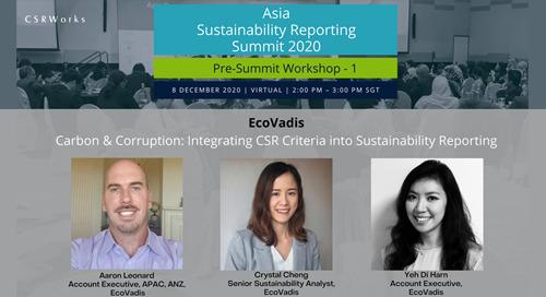 Carbon & Corruption: Integrating CSR Criteria into Sustainability Reporting