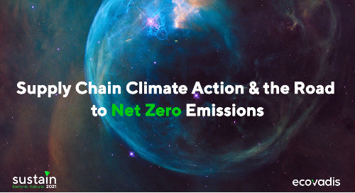 Supply Chain Climate Action & the Road to Net Zero Emissions