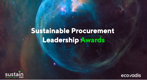 Sustainable Procurement Leadership Awards 2021