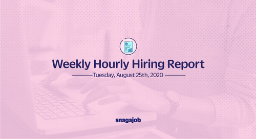 Weekly Hourly Hiring Report 8/25/2020