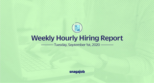 Weekly Hourly Hiring Report 9/1/2020
