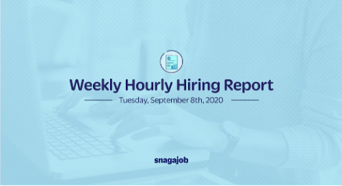 Weekly Hourly Hiring Report 9/8/2020
