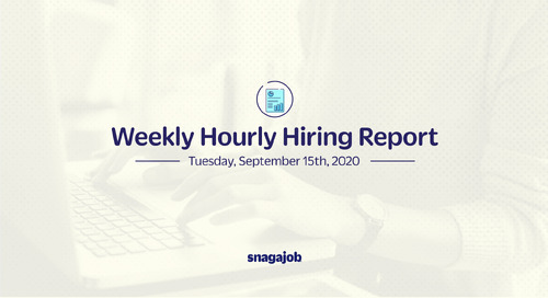 Weekly Hourly Hiring Report 9/15/2020