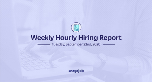 Weekly Hourly Hiring Report 9/22/2020