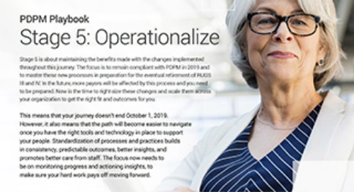 PDPM Playbook - Stage 5 Operationalize