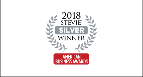 Silver Stevie Winner - 2018