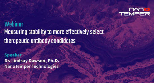 Measuring stability to more effectively select therapeutic antibody candidates