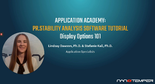 Prometheus Application Academy | PR.Stability Analysis software Display 101 tutorial