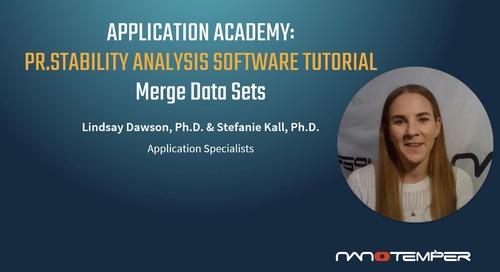 Prometheus Application Academy | PR.Stability Analysis software Merge Data Sets tutorial