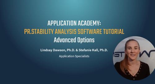 Prometheus Application Academy | PR.Stability Analysis software Advanced Options tutorial