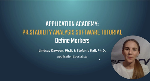 Prometheus Application Academy | PR.Stability Analysis Software Define Markers Tutorial