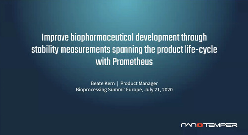 Improve biopharmaceutical development through stability measurements spanning the product life-cycle with Prometheus