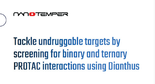 Tackle undruggable targets by screening for binary and ternary PROTAC interactions using Dianthus