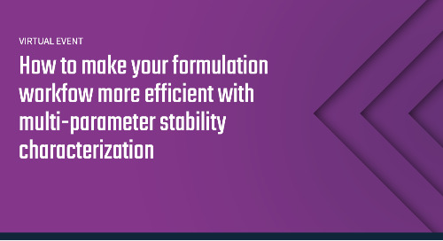 Tour Prometheus Panta: How to make your formulation workflow more efficient with multi-parameter stability characterization
