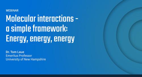 Molecular interactions - a simple framework: Energy, energy, energy