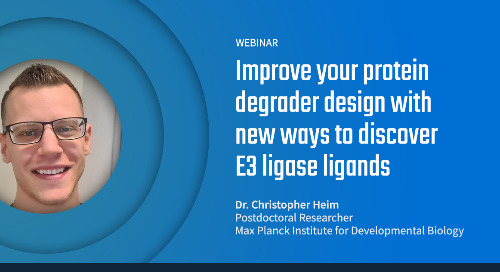 Improve your protein degrader design with new ways to discover E3 ligase ligands