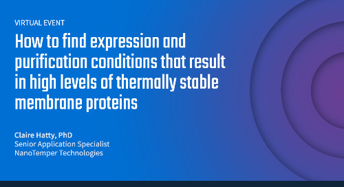How to find expression and purification conditions that result in high levels of thermally stable membrane proteins