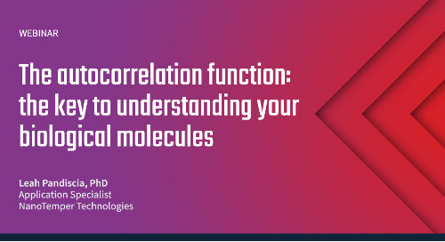 The autocorrelation function: the key to understanding your biological molecules