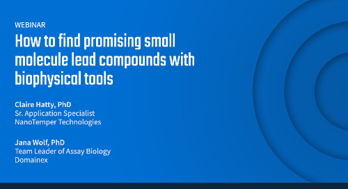 How to find promising small molecule lead compounds with biophysical tools