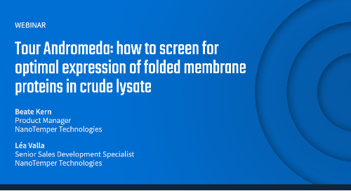 Tour Andromeda: how to screen for optimal expression of folded membrane proteins in crude lysate