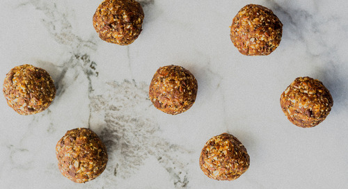 Almond butter flaxseed power bites recipe
