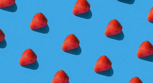 草莓蛋糕的香蕉